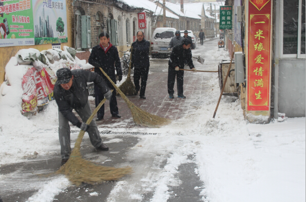 栖霞街清雪