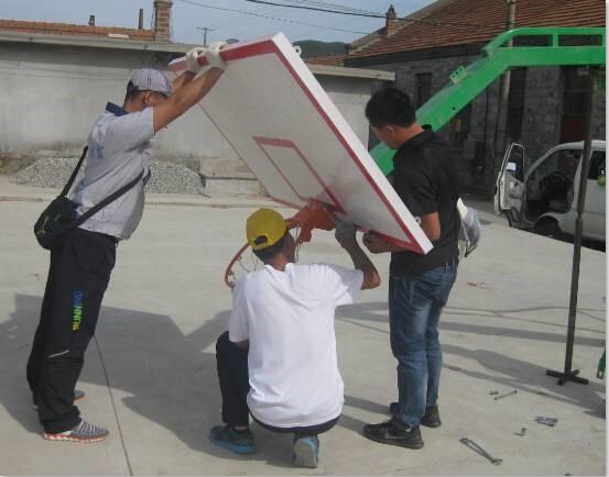 市旅游局为帮扶村购置运动器材