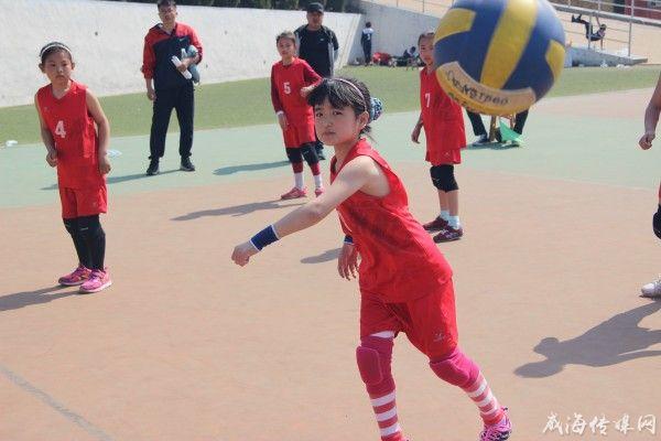 2018年威海高区中小学生排球联赛举行