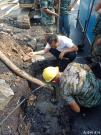 抢修渔港路DN1000水泥管道
