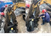 苏州街污水管道抢修
