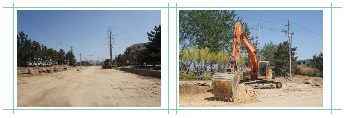 开发区多条道路整治进行中 交通畅行道路颜值双提升