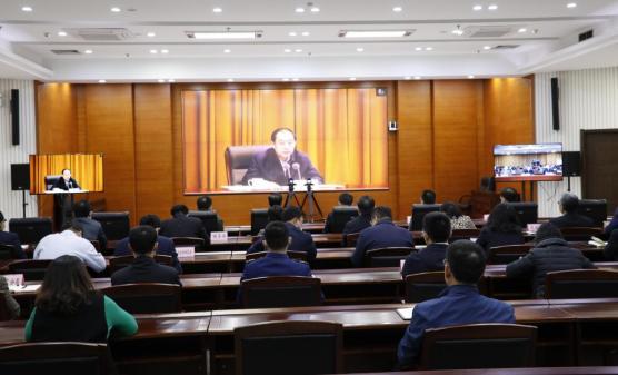 高新区组织收看中央宣讲团党的十九届五中全会精神报告会