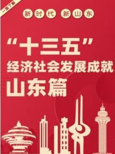 """十三五""""经济社会发展成就 山东篇"""