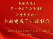 习近平代表党和人民庄严宣告,经过全党全国各族人民持续奋斗,我们实现了第一个百年奋斗目标